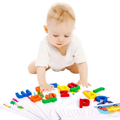 益智玩具 英文拼字 字母書寫早教學習組 拼圖 字卡-MUQ2344A