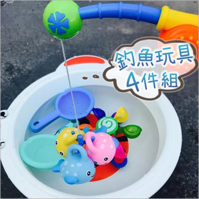 JoyNa 浴室釣魚戲水捏捏噴水玩具-BT8485