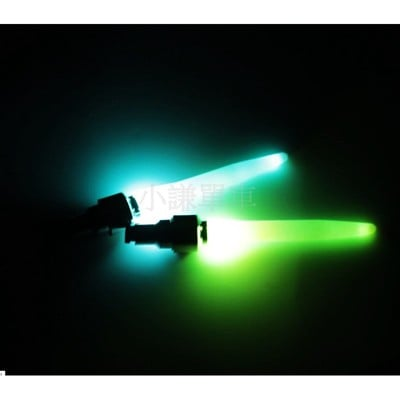 小謙單車全新加長型10cm七彩氣嘴燈美式氣嘴用震動+光感應風火輪燈