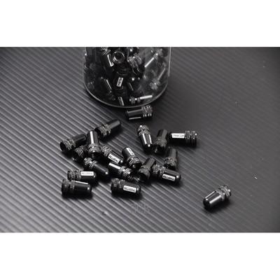 小謙單車全新鋁合金法式氣嘴蓋 --黑色