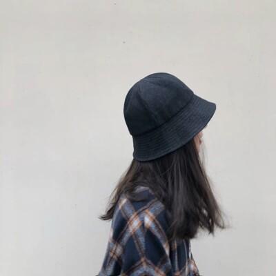 適合所有臉型日系牛仔水桶漁夫帽丹寧盆帽子遮陽帽