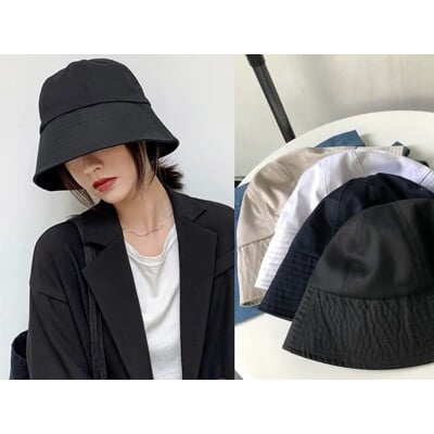 小臉必備百搭鍾型漁夫帽水桶帽盆帽擋風遮陽帽