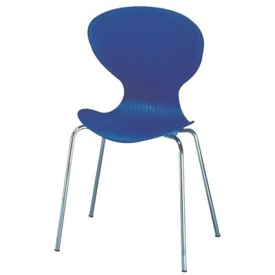 【R-C6】一體成形曲線椅背/舒適餐椅/會客椅/洽談椅-藍紫色