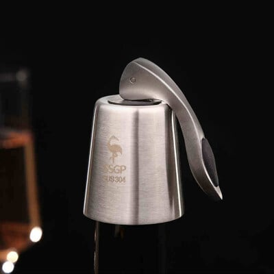 PUSH!餐廚用品304不銹鋼紅酒塞酒塞子葡萄酒保鮮密封塞瓶塞D201
