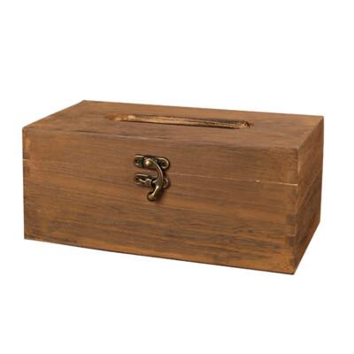 PUSH! 居家生活用品 復古自然風 紙巾盒 面紙盒 衛生紙抽取收納盒I06-1