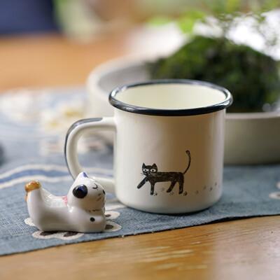手工琺瑯杯 可愛貓咪系列-琺瑯杯 250ml