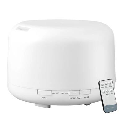 【保險+保固】七彩超音波精油香氛水氧機500ML (附遙控器)