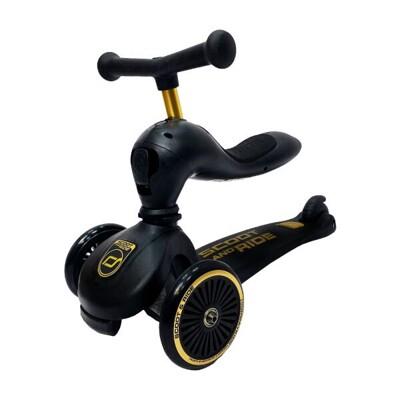 奧地利 Scoot&Ride Cool 飛滑步車/滑板車-黑金【佳兒園婦幼生活館】
