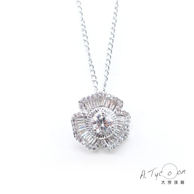 【A Tycoon Jewelry】天然真鑽花語項鍊(K0029)