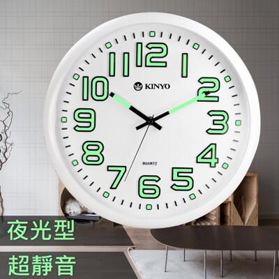 KINYO夜光靜音掛鐘CL-127