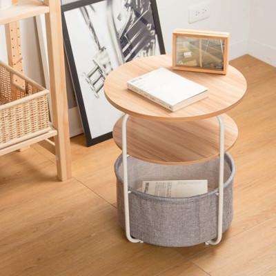 【拍照背景】 雙層小圓桌附籃#茶几/矮桌/桌子/和室桌/造型桌/側桌 拍攝情境/背景用道具