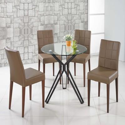 【SA375-1】 90cm圓玻璃造型桌