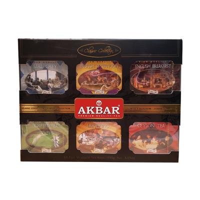 Akbar阿克巴經典收藏組合禮盒 (6款茶葉各一盒, 總共60包)