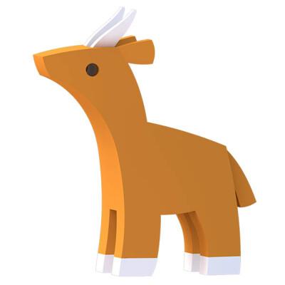 ★好評熱銷 ★安全無毒【HALFTOYS】3D動物樂園:高角羚(IMPALA )STEAM教育玩具