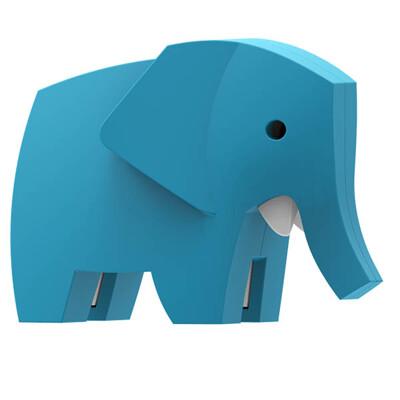 ★好評熱銷 ★安全無毒【HALFTOYS】3D動物樂園:大象(ELEPHANT)STEAM教育玩具