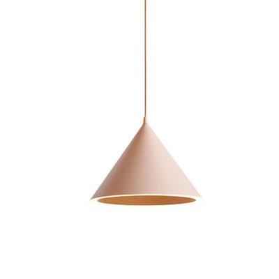 粉色馬卡龍圓錐形小吊燈