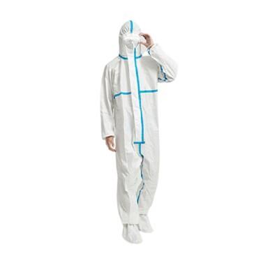 pe淋膜多層保護條紋防護衣隔離衣防塵衣防護服隔離服防塵服一次性服拋棄式服非醫療防疫批發