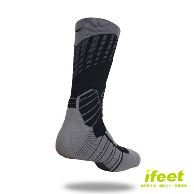 【老船長】9817全方位足弓壓力運動襪籃球襪-2雙入(黑色)