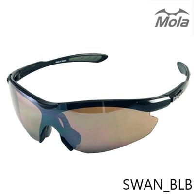 MOLA摩拉運動太陽眼鏡 超輕量 男女 UV400 跑步/高爾夫/自行車 Swan-blb