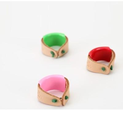 日本進口clover可樂工具皮卷頂針 34-503刺繡拼布針工具指套 -