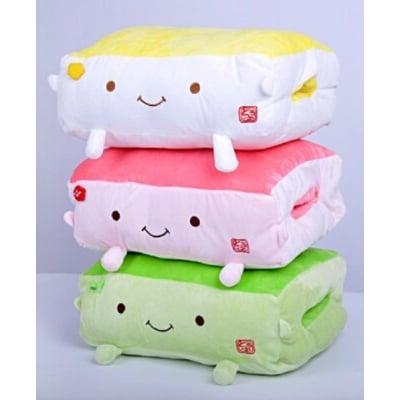可插手日本豆腐暖手抱枕靠墊