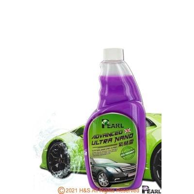 PEARL高級奈米清潔打蠟免水洗車液(紫精靈)(550ml/瓶)加贈Pro超細纖維布(黃/綠)