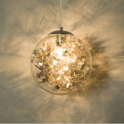 燈 燈具 吊燈 單頭 後現代輕奢金色玻璃透明圓球吊燈北歐簡約餐廳過道吧臺玄關小吊燈