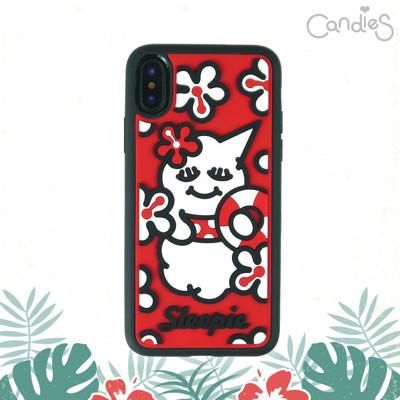 【Candies】睡眠寶寶方型殼(夏日紅)-IPhone X