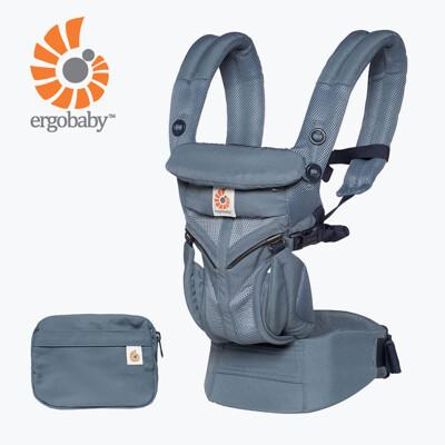 【Ergobaby】 Omni全階段型四式360透氣款嬰兒揹巾/揹帶-牛津藍