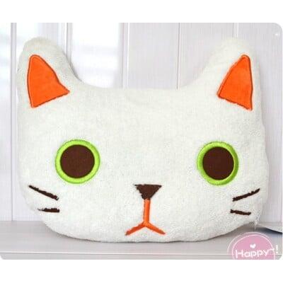 白色貓咪抱枕