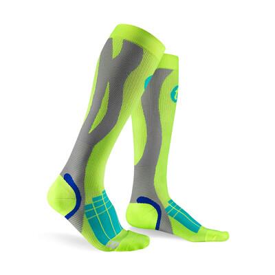 【Titan太肯運動】壓力運動襪 Elite螢光綠_ 久站族小腿救星_