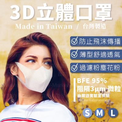 【MIT現貨秒出】3D立體口罩 外銷日本 三層防飛沫 防粉塵 成人口罩 兒童口罩(S/M/L)