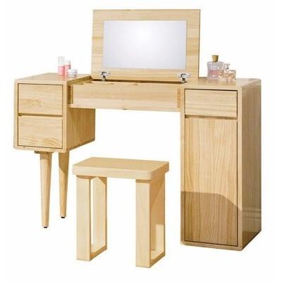 【新精品】CE-B149-05(C506+507) 丹麥原木全實木3.6尺掀鏡台(含椅)台北到高雄滿