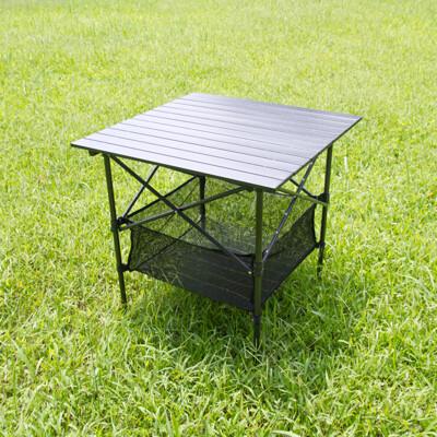 黑金鋼露營蛋捲桌.戶外休閒鋁合金大理石防刮高強度耐重野營料理折摺疊野餐桌露營桌