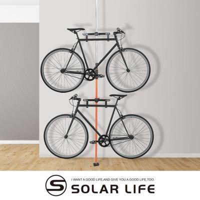 頂天立地自行單車收納架.3米可調式穩固不鬆脫單車展示架停車立車架腳踏車架台灣製造